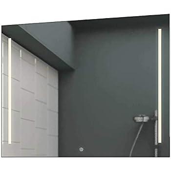 Badezimmerspiegel inkl. Touch SchalterDimmer 60 cm Breit x