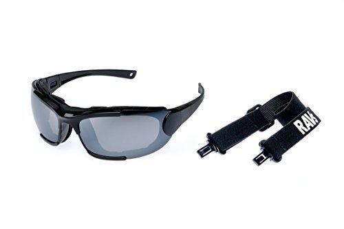 RAVS by Alpland MOTORRADBRILLE BIKERBRILLE - Motorcycle glasses - SONNENBRILLE inkl. BAND, BÜGEL und SOFTBAG