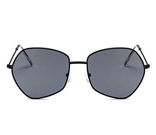 2THTHT2 Damen Sonnenbrille 90Er Jahre Cat Eye Classic Hexagon Sonnenbrille Schwarz