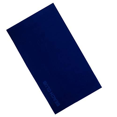 Vossen 1158440479 Beach Club - Badetuch, 100 x 180 cm, Reflex blau