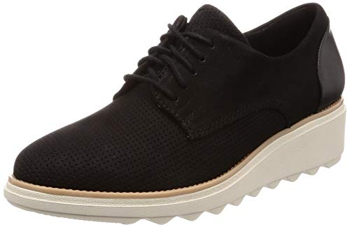 59714fbd818 Clarks Sharon Crystal, Zapatos de Cordones Derby para Mujer, Negro (Black-)
