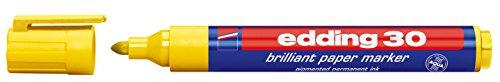 edding Pigmentmarker edding 30 brilliant paper marker, 1,5 - 3 mm, gelb