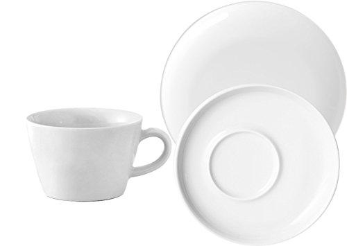 Kahla 390453M90039C Five Senses Geschirr-Set Weiß Kaffeeservice 18 teilig 6 Personen Tassen...