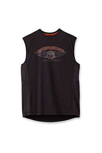 Harley-Davidson Performance Muscle Tee 191G-HA0B Herren Shirt, schwarz, XL