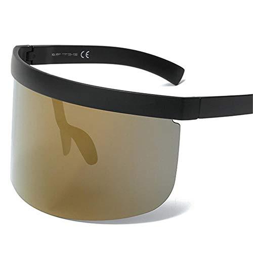 ANSKT Sonnenbrille Großer Maskenspiegel Guckmasken-Sonnenbrille Plötzliche Sonnenbrille Frau @ 1