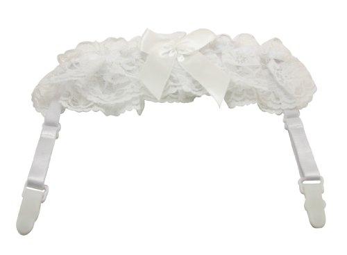 loveorama.de Chuzhao Wu weiß Womens Lace Garter Belt Strumpfhalter mit verstellbaren Schultergurt (2 Stück)