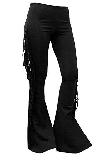 Killstar Vega Fringe Fransen Schlaghose Leggings Leggins Dark Gothic Fringe-leggings