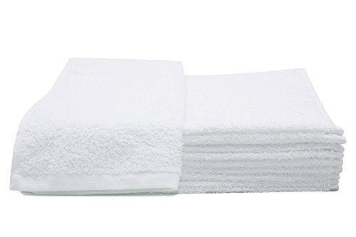 gaestetuecher Zollner 10er Set Gästehandtücher aus Baumwolle, ca. 30x50 cm, Farbe Weiß