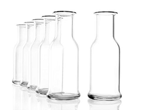 Stölzle Oberglas Purity Karaffe 0,125 l, 1/8 Liter, Karaffe, Krug, zeitlose, moderne Optik, 6 Stück, spülmaschinenfest, hochwertige Qualität (Milch-glas-krug)