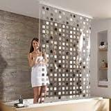 Kleine Wolke ducha Estor mosaico Completo con soporte para techo y cortina 128x 240cm
