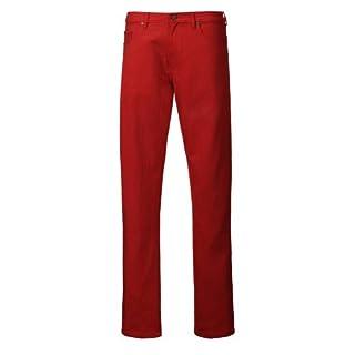 Alexanders of London Luxury Soft Cotton Colour Drill Jeans - Brick - Size 36/34