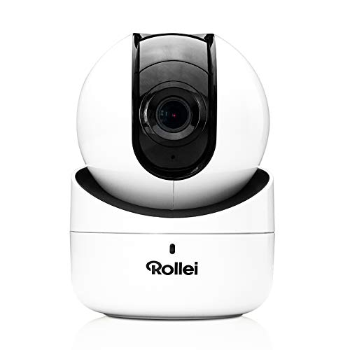 Rollei SafetyCam 100 | WLAN HD Überwachungskamera mit Bewegungsmelder und Ton | Home Security Camera Indoor | IP Kamera WiFi innen, Überwachung mit Handy App ohne Akku, SD Karte und Cloud Speicher (Audio Home-security-kameras Mit)