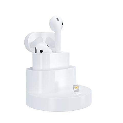Airpods casque support de charge, Gooq Apple station de recharge