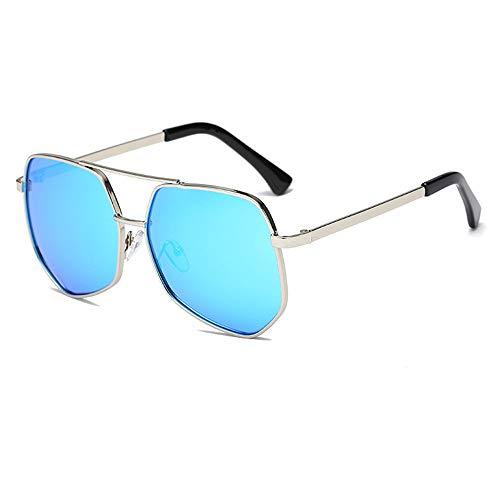 Sonnenschutz-Sonnenbrillenmänner der großen Schachtel, die das Fahren der polarisierten Sonnenbrille der Brille blau fahren