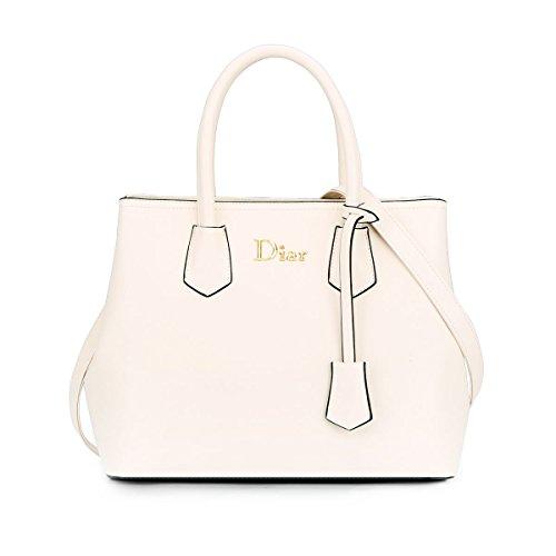 Dissa® S728 Damen 2018 Mode PU Schultertaschen,Umhängetaschen,Henkeltaschen,33x27x15.5(BxHxT) Weiß