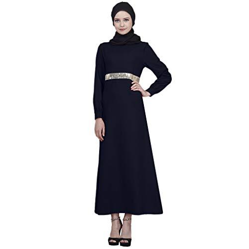37ecd1716d Lazzboy Abaya Dress Women Plain Sparkly Sequins Arab Dubai Islamic Muslim  Ladies Party Maxi Ramadan Dresses