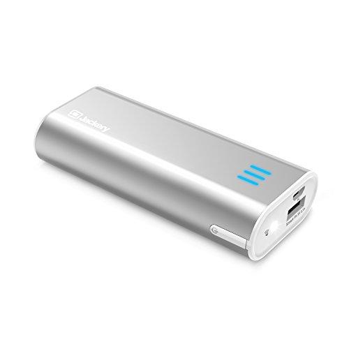 Cargador-Porttil-Jackery-bar-6000mAh-Cargador-Mvil-Batera-Externa-Power-Bank-Clula-Litio-Panasonic-5V21A-para-Smartphones-iPhones-Android-MP3-Kindle-Cmaras-Digitales-y-tableta-Plata