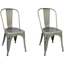 La Silla Espanola Die Spanische Stuhl Tolix Pack Stuhle Ruckenlehne Edelstahl Grau 5350