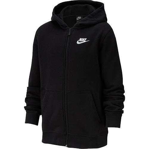 Nike B NSW FZ Club, Felpa con Zip Bambino, Nero, L Img 1 Zoom