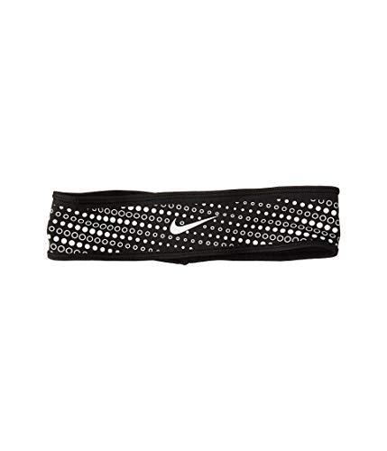 Nike Unisex- Erwachsene Dri-Fir Stirnband, Black/Silver, One Size