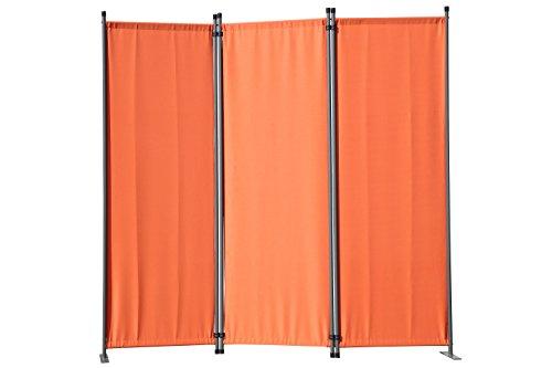 Angel Living 5870310 Paravent 3tlg Raumteiler Trennwand Sichtschutz 3 Fach Faltbar Sichtschutz (169x165cm, Terrakotta)