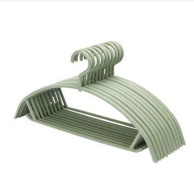 Semi-Circular Sweater Hanger Seamless Anti-Shoulder Anti-Slip Drying Rack 10 Sticks 20X40Cm