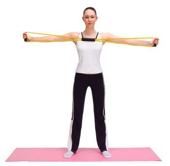 Total Body Finess Stretch Body Toning and Stretching Travel Exercise tube 8 type resistance band exercise tube yoga pull up equipment Yoga Fitness For Men and Women  available at amazon for Rs.219