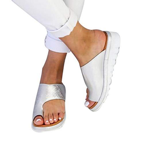 XQYPYL Damen Big Toe Hallux Valgus Unterstützung Plattform Sandale Schuhe für die Behandlung Sandalen Frauen Damen Bequeme Plattform Sandal Sommer Strand Reise Schuhe,07,37