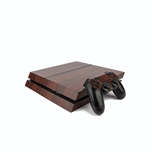 premium-ps4-playstation-4-wood-effect-vinyl-wrap-skin-cover-for-ps4-console-and-ps4-controllers-dark