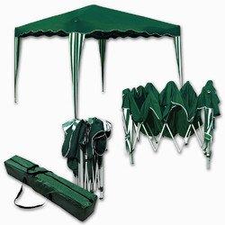 Jawoll Falt-Pavillon »Easy-Up« 3x3m grün-weiß Klapp-Pavillon Gartenpavillon Scherenpavillon