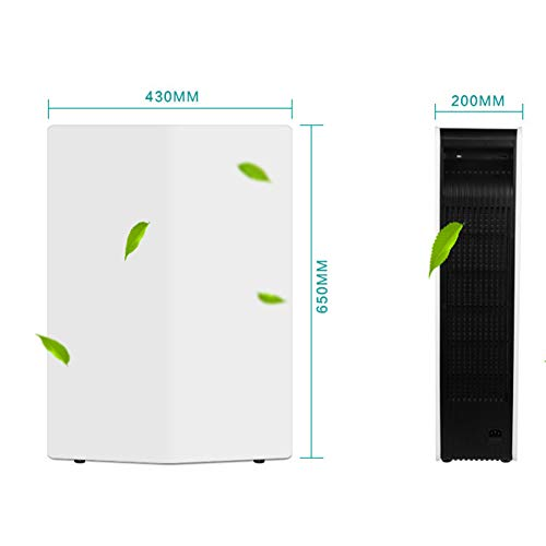 31TMOQ%2BOX4L. SS500  - Lbellay Double electrostatic Negative ion Intelligent air purifier Touch type home air micro purifier Wind speed adjustment | temperature and humidity display,White-65 * 43 * 20 cm