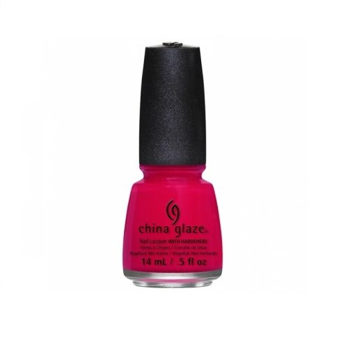 China Glaze Nail Lacquer with Hardner - Collection Off Shore - Sea's The Day, 1er Pack (1 x 14 ml) - Pink Glaze China