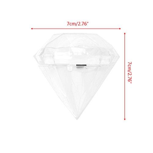 ZJL220 Wedding Party Home Clear Diamond Shape Transparent Plastic Candy Box Favor Decor (Party Favors Diamond)