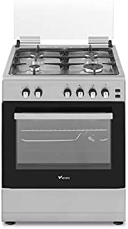 Veneto 60 X 60 cm 4 Gas Burners, Free standing Gas cooker, Stainless Steel - C3X66G4VC.VN, 1 Year Warranty