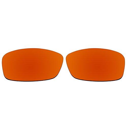 ACOMPATIBLE Ersatz-Objektive für Oakley Hijinx Sonnenbrille, Fire Red Mirror - Polarized