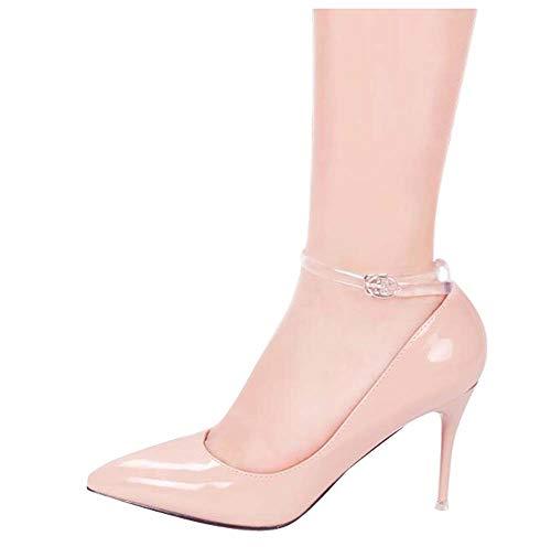 Correas transparentes zapato muchacha 2 pares tacones