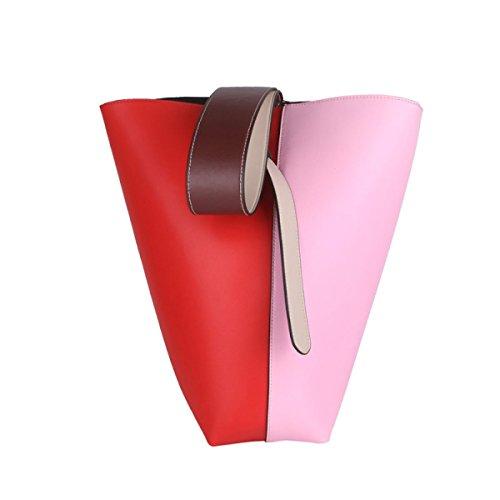 Borse Casuali Delle Signore Del Sacchetto Della Maniglia Superiore Della Spalla Di Modo Delle Nuove Donne Pink/Red