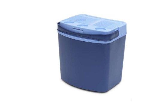 Thermo-Kühlbox für 30 Liter Inhalt und 12-Volt-Anschluss, tragbare Kühltasche, 3,8 KG, Kühlung bis 16 G'rad unter Umgebungstemperatur, blau, NEU + OVP
