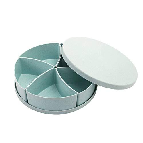 Teller-chip (Meisijia Fruit Chips Datum Serving Appetizer Platter Nüsse Tablett und Süßwaren Süßigkeit Gebäck Hochzeit Teller Box)