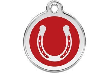 RedDingo enamel pet id tag, small,