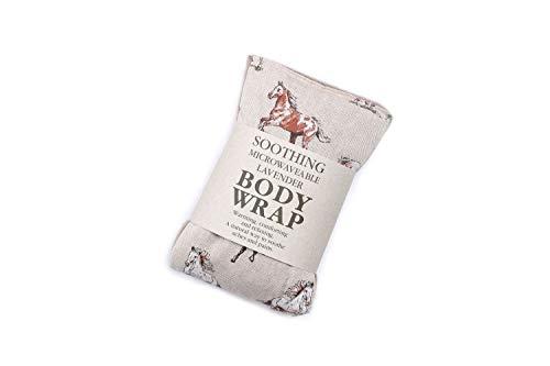 Lavendel Weizen, mikrowellengeeignet Body Wrap-Pferd -