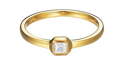 Esprit Damen-Ring JW50016 925 Silber rhodiniert Zirkonia weiß Rechteckschliff