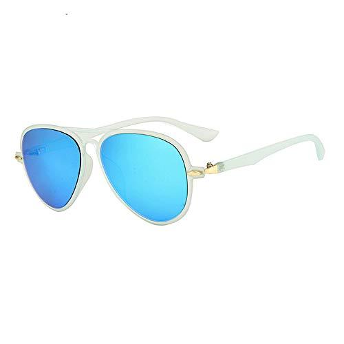 Flieger Stil Kinder Sonnenbrille Klassisch Leicht Metall Rahmen Farbig Linse Anti-UV Kinder Erholung Brillen Augenschutz Brille,Blue