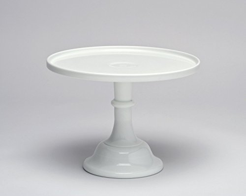 12-white-milk-glass-cake-stand-plate-bakers-quality-by-mosser-glass