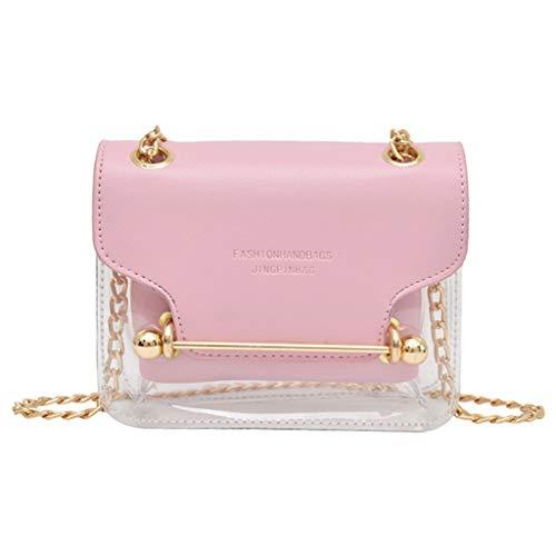 HROIJSL Fashion Lady Transparent Square Bag Schultertasche Messenger Bag Hand Wallet Tasche Canvas Tasche Damen Rucksack Handtasche Umhängentasche Anti Diebstahl Tasche Hobo Tasche -
