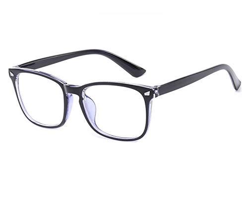 Sonnenbrille mit quadratischem Rahmen, blaues Licht blockierende Brille, Anti-blaue Strahlungslinse Gr. Einheitsgröße, C4 Blue