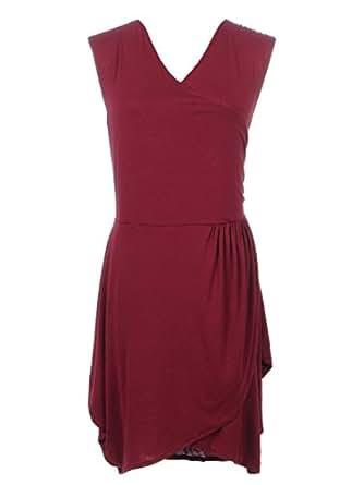 Anna Kaci-S/M (Rouge à Papier Plissé Avant drapé robe de Cocktail à Dos en U
