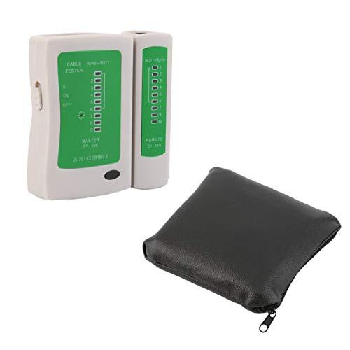 Professionelle RJ45 RJ11 RJ12 CAT5 UTP Netzwerk LAN USB Kabel Tester Detektor Remote Test Tools Netzwerk Tool(Color:white)