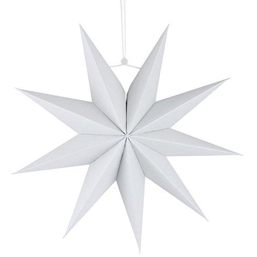 e Ausschnitt Papier Star Laterne, nine-pointed Star zum Aufhängen Dekoration für Kinder Zimmer, weiß, 30,5 cm ()