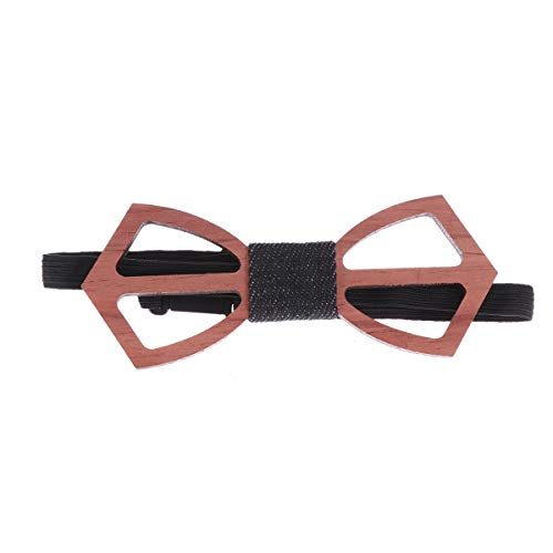 Amosfun 1pc Hollow Out Bowtie Vintage Style for Anniversary Birthday Wedding Decor X-long Band Bow Tie